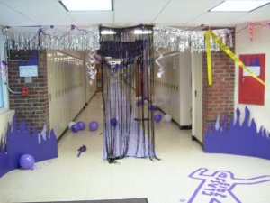 Senior hallway decorations.  Enter at your own risk!