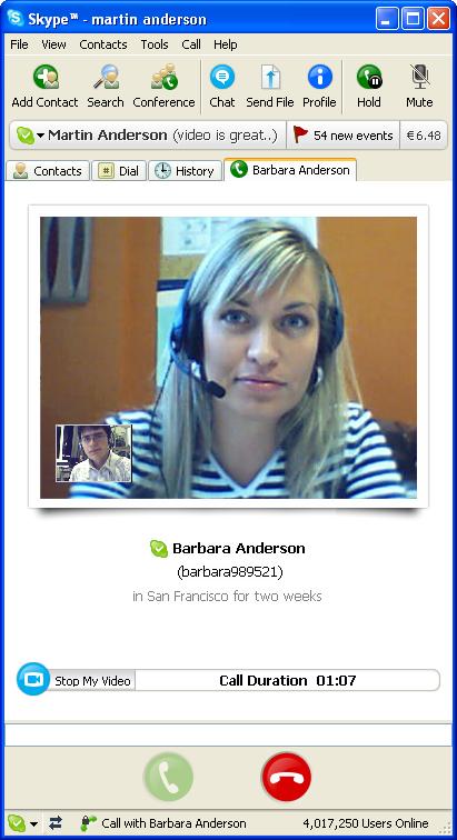 Skype female users id