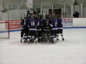RFH hockey huddles before a game